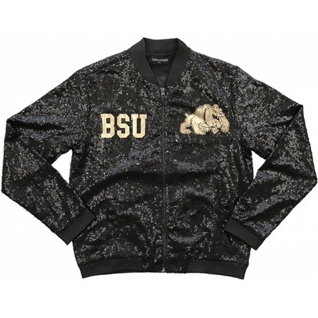 Big Boy Bowie State Bulldogs Ladies Sequins Jacket [Black - S] - Bulldog Costumes For Adults