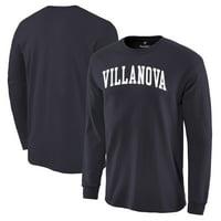 Villanova Wildcats Basic Arch Long Sleeve T-Shirt - Navy