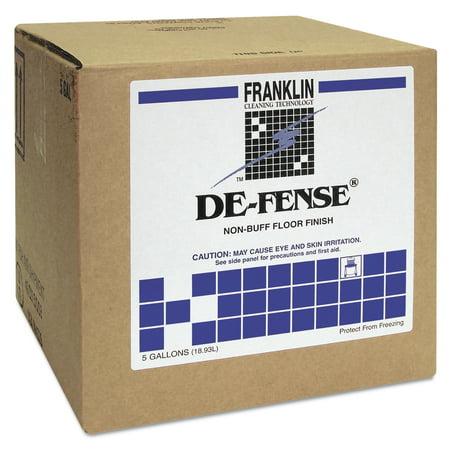 Franklin Cleaning Technology DE-FENSE Non-Buff Floor Finish, Liquid, 5 gal. Box -FKLF135025 Non Buff Floor Finish