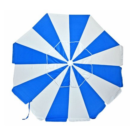 7.5 ft Commercial Grade Fiberglass Beach Umbrella and Patio Umbrella UPF100 with Accessory Hook
