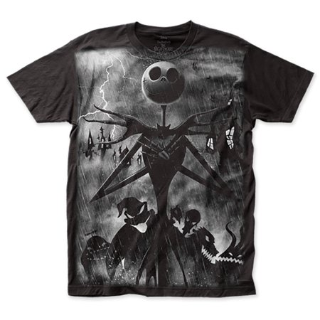 Nightmare Before Christmas Jack Skellington Rainstorm T-Shirt](Jack Skellington Shirt)