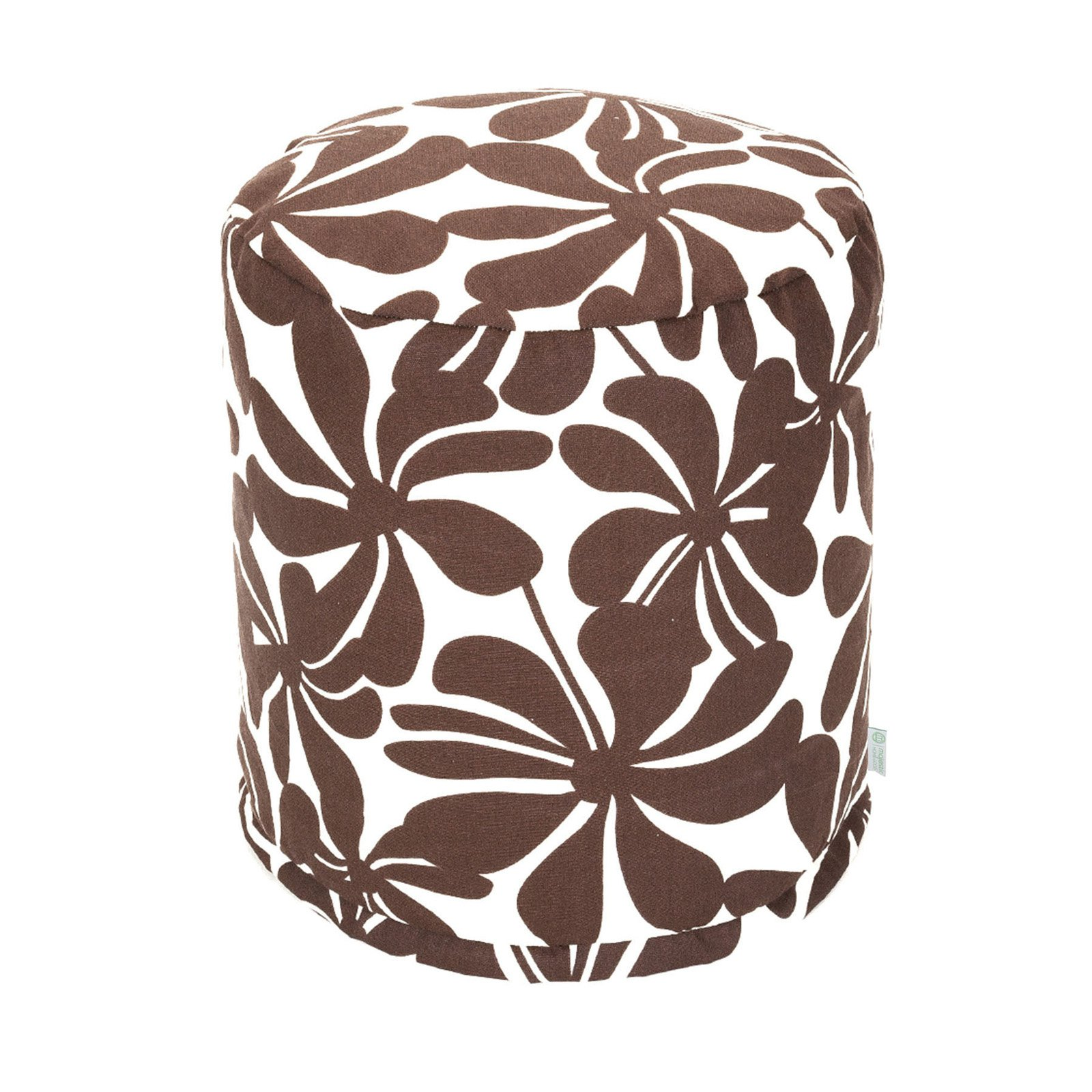 Majestic Home Goods Plantation Small Pouf, Indoor/Outdoor