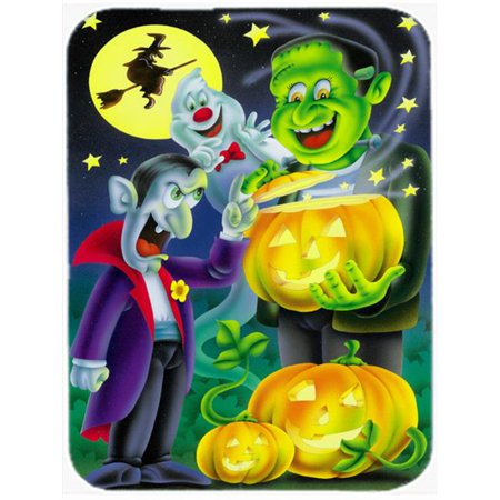 Carolines Treasures APH0935MP Halloween with Dracula & Frankenstein Mouse Pad, Hot Pad or Trivet - image 1 of 1