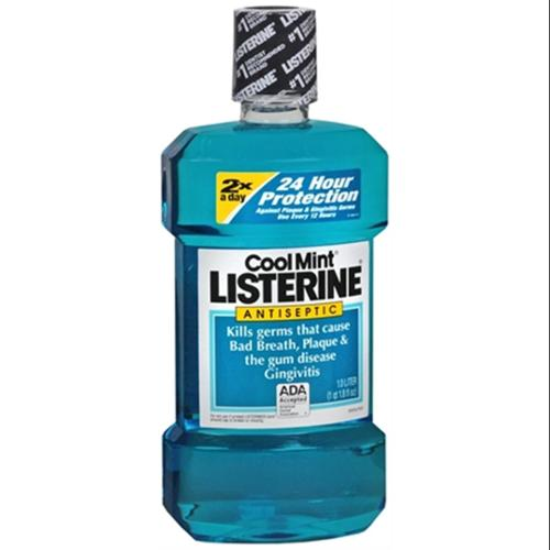 Listerine Antiseptic Mouthwash, Cool Mint 33.8 oz (Pack of 2)