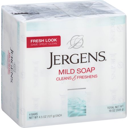 - Jergens Mild Soap Bath 4-Bar (4.5oz per bar)