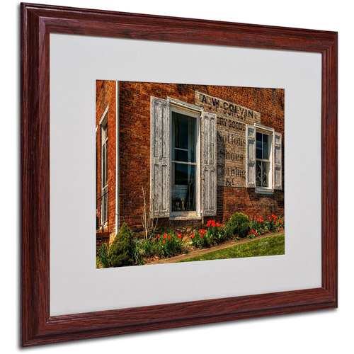 "Trademark Fine Art ""Country Store"" by Lois Bryan, Wood Frame"