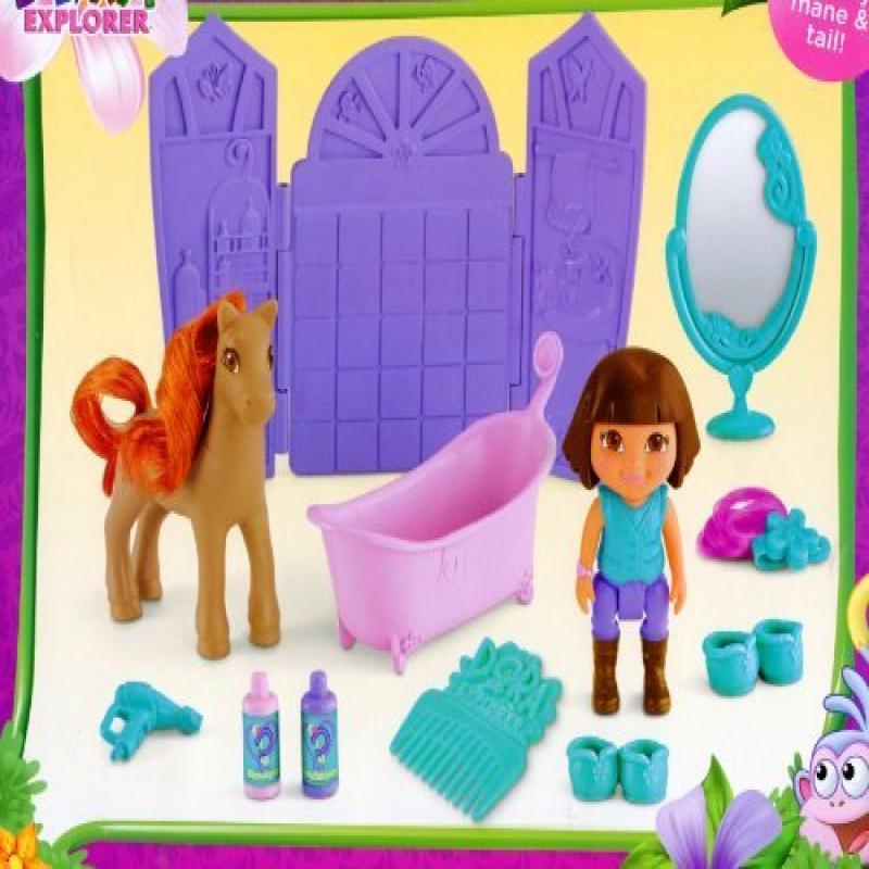 Pony Salon ** Dora the Explorer Play Set ** Dora & Horse Figures + Extras by