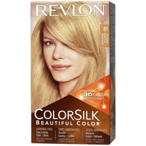 Revlon ColorSilk Beautiful Color, 81 Light Blonde1 kit (Pack of 2)