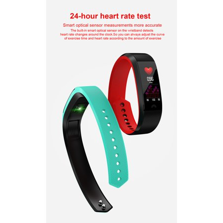 HYFAI F6 Fitness Tracker Smart Bracelet Fitness Wristband Smart Watch for iOS and Android (FREE GIFT FAST CHARGER) in Pink - image 11 de 12
