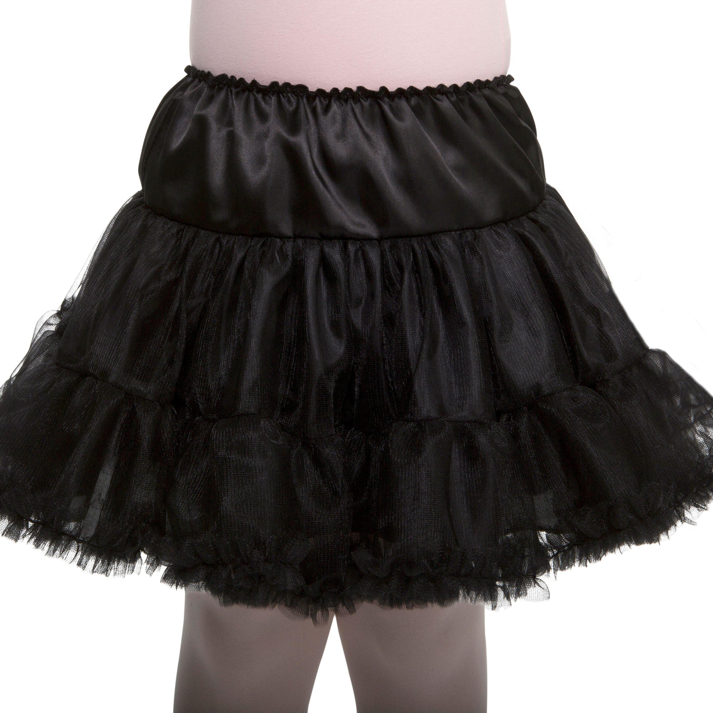 Black Ruffled Pettiskirt Adult Costume Accessory