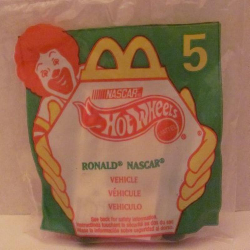 Mattel HOT WHEELS McDONALDS Happy Meal TOY Die Cast CAR RONALD Nascar #94 Bag #5 1998  ... by