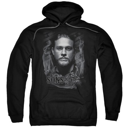 Sons Of Anarchy/Jax Adult Pull Over Hoodie Black  Soa144