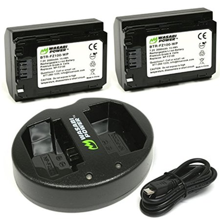 Wasabi Power Two Batteries and Dual USB Charger Set for Sony NP-FZ100