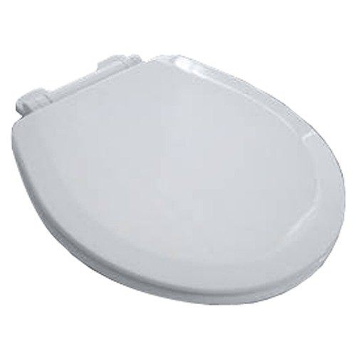 American Standard EverClean Wood Round Front Toilet Seat with Easy Lift Hinges, White