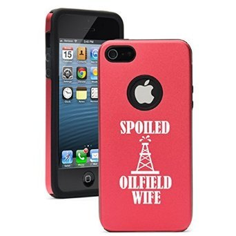 Apple Iphone 6 Plus   6S Plus Shockproof As Aluminum   Silicone Hard Soft Case Cover Spoiled Oilfield Wife  Red  Daylor