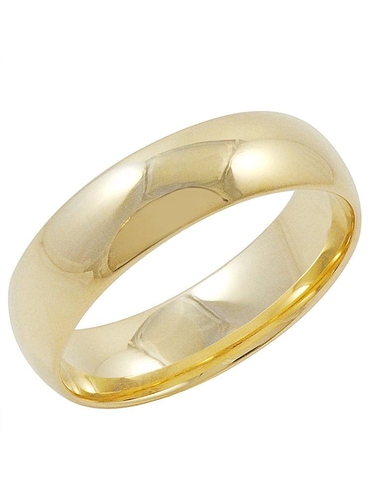 Mens Yellow Gold Wedding Bands Walmartcom