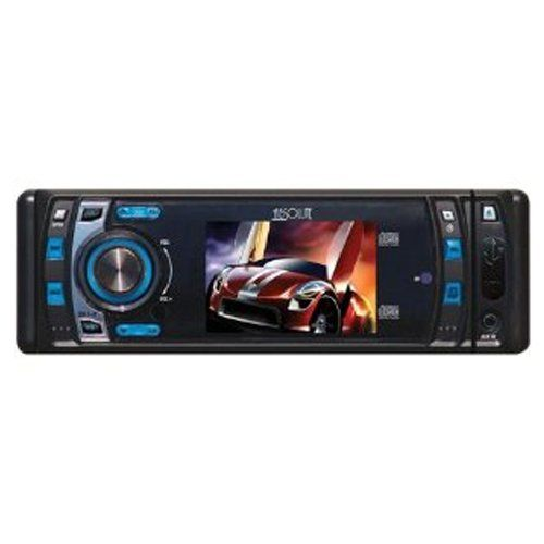 Absolute DMR400 4-Inch In-Dash Receiver with DVD Player Flip Down Detachable Panel,