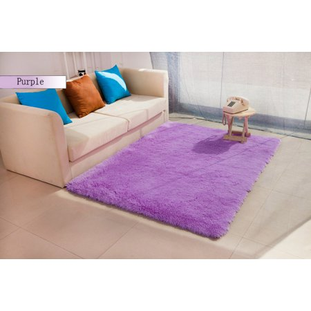 Meigar Fluffy Rugs Floor Mat Indoor Modern Shag Shaggy Area Silky Smooth Rugs Anti-Skid Rug Dining Room Home Bedroom Carpet Floor Mat Floor Couches - image 1 of 4