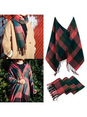 Fashion Women's Scarf Lightweight Long Plaid Tartan Scarfs Lady Pashmina Winder Wraps Shawl Stole Soft Warm Scarves For Women