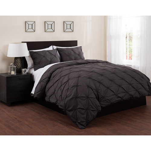 East End Living Pintuck Diamonds Duvet Cover and Sheet Bed in a Bag Bedding Set