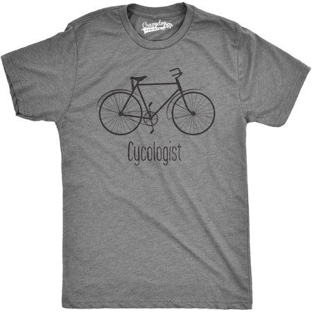 0fbb327e32 Crazy Dog T-shirts - Crazy Dog T-shirts Mens Cycologist Funny Psychology  Biking Cyclist Pun Biker Tee T shirt (Grey) - Walmart.com