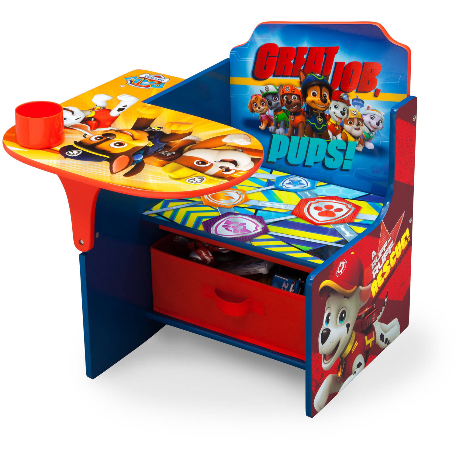 Nick Jr Paw Patrol Chair Desk With Storage Bin By Delta Children Walmart Com