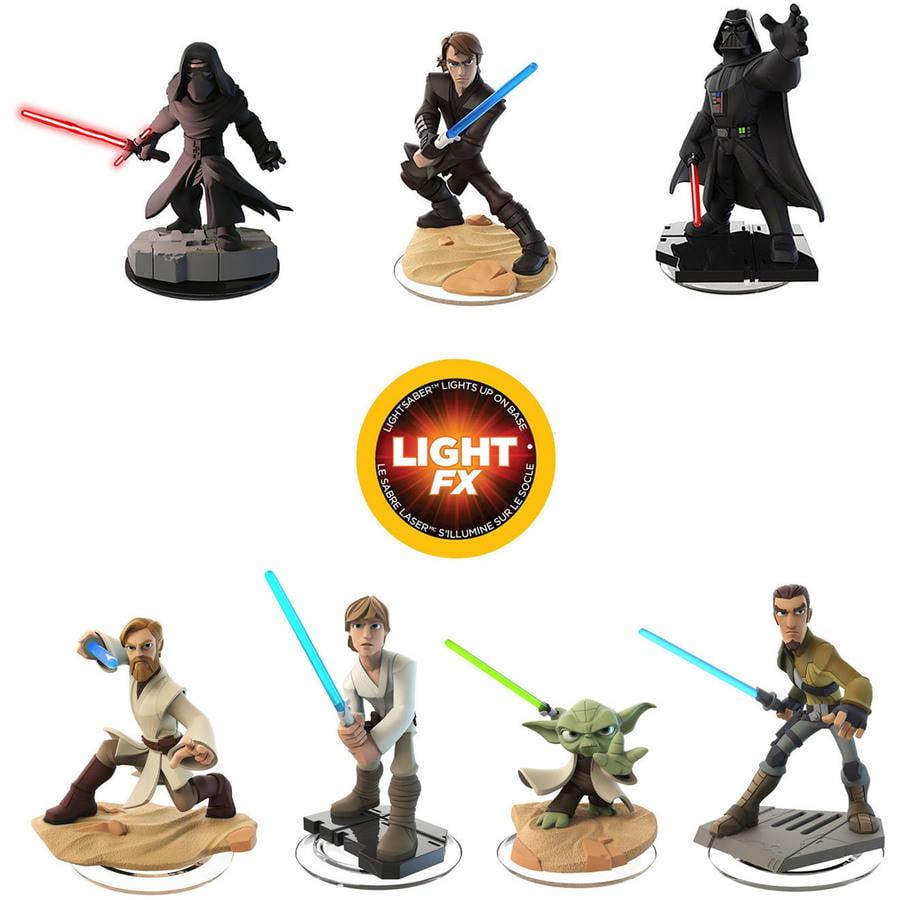 Disney Infinity 3.0 Light FX Figures, 7-Pack (Universal) by Disney