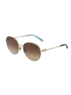 5fd072fc5c Product Image Tiffany And Co. Women s Mirrored TF3053-610964-56 Gold  Semi-Rimless Sunglasses