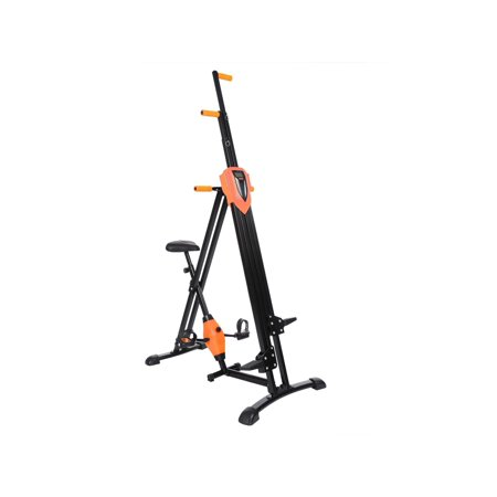 2 in 1 Total Body Vertical Climber Magnetic Exercise Bike Machine Folding Climbing Machine Stair Cardio
