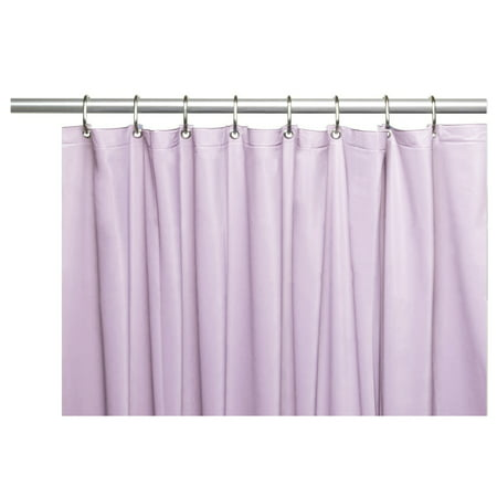 Venice Elegant Home Heavy Duty Vinyl Shower Curtain Liner With 12 Metal Grommets Lilac