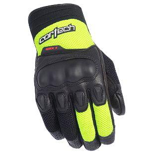 Cortech HDX 3 Mens Mesh Motorcycle Gloves Black/Hi-Vis