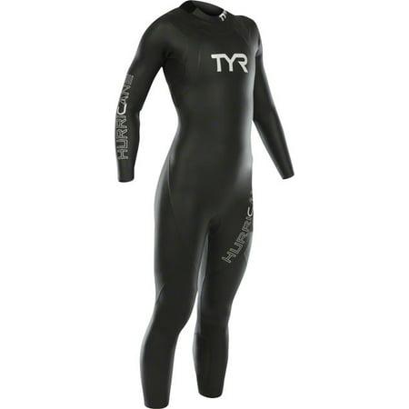 TYR Women's Hurricane Cat 1 Wetsuit Black/Gray