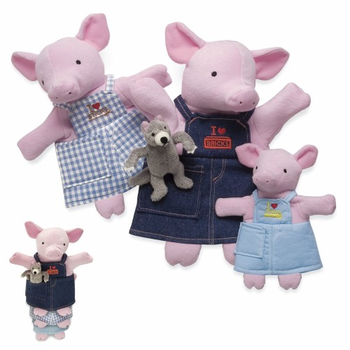 3 Little Pigs Nesting Puppets by North American Bear - 8326