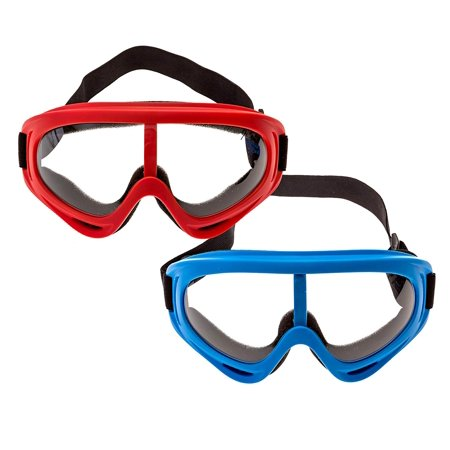 2 Pack Safety Goggles for Kids, Men & Women, Motorcycle Goggles with Protection and Wind Resistance, Perfect for Nerf Guns N-Strike Elite Series Foam Gun