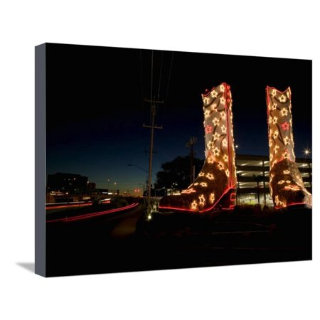 World's Biggest Cowboy Boots Sculpture by Bob 'Daddy O' Wade, North Star Mall, San Antonio Stretched Canvas Print Wall (North Star Mall)