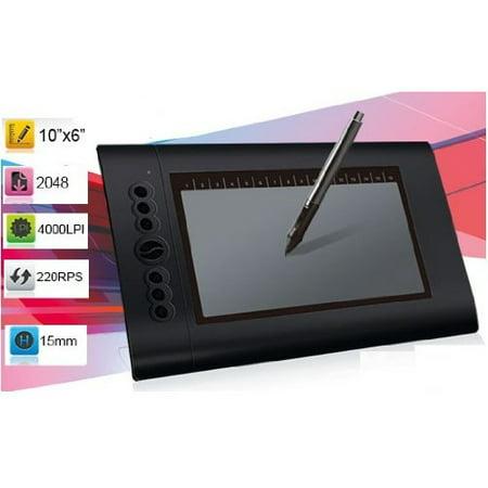 mount it turcom 10 x 6 25 graphic drawing tablet walmart com