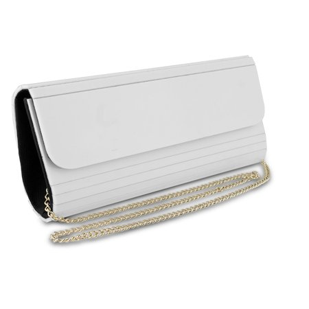 - Acrylic Elongated Clutch, White