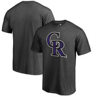 Colorado Rockies Fanatics Branded Primary Logo T-Shirt - Heathered Charcoal