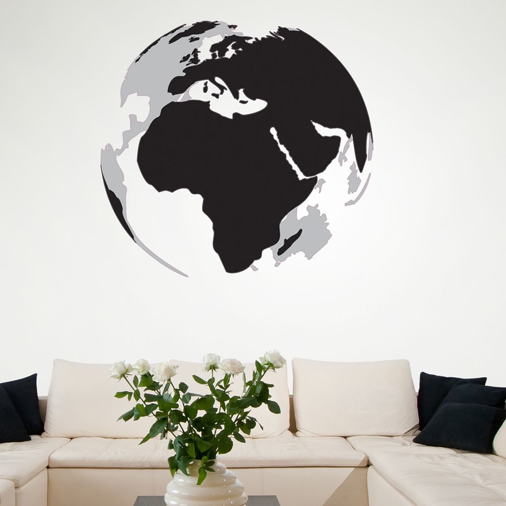 Style and Apply 3D Earth Vinyl Wall Art