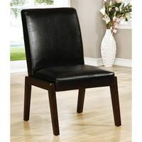 Furniture of America Lorean Side Chair in Espresso (Set of 2)