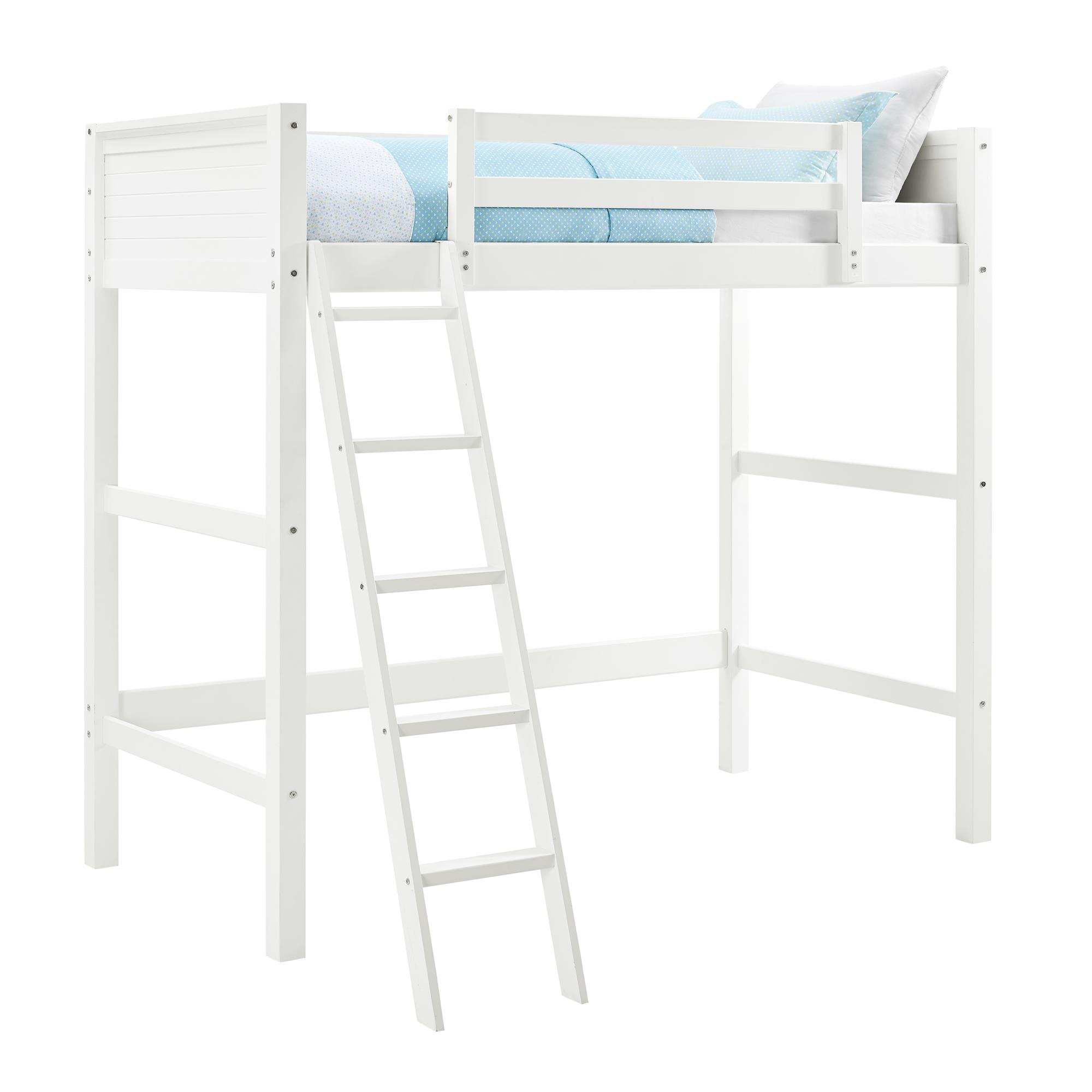 Your Zone Twin Wood Loft Bed, Multiple Colors   Walmart.com