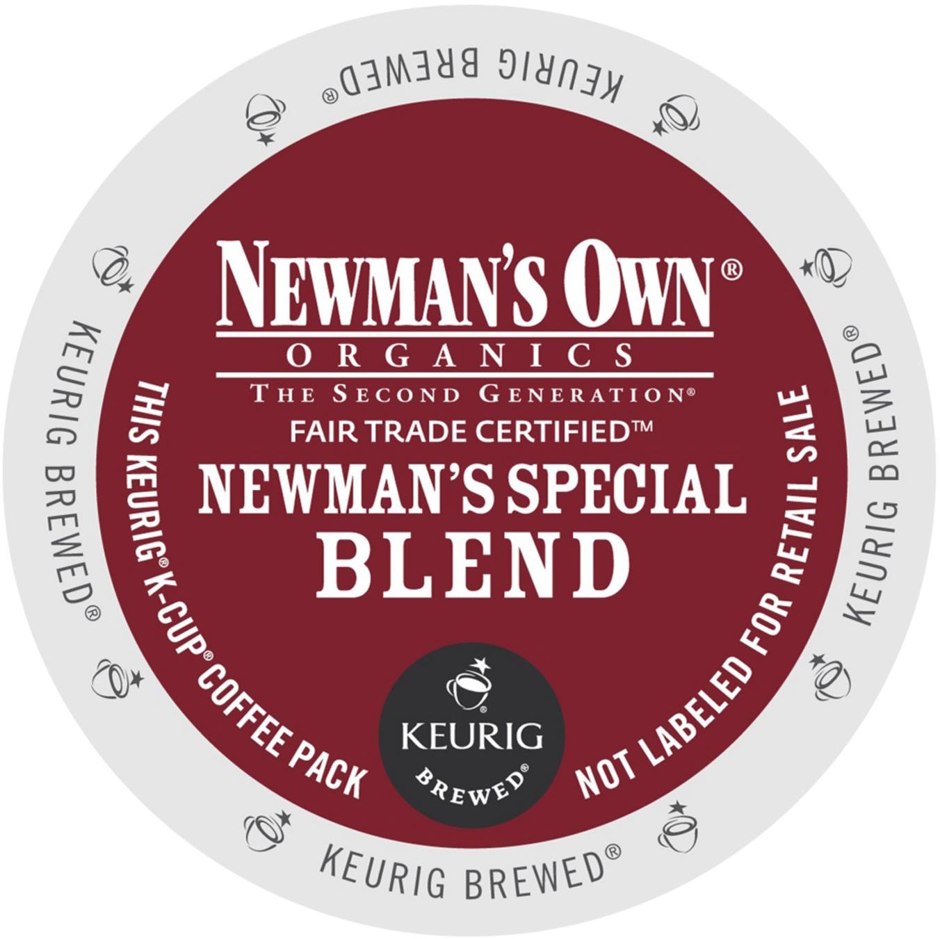 Newman's Own Organics Newman's Special Blend Extra Bold Coffee, K-Cup Portion Pack for Keurig Brewers (96 Count) (4x16oz)