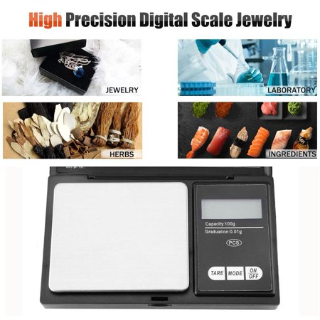 Digital Gram Scale Portable High Precision Pocket Size for Jewelry Herb Coffee