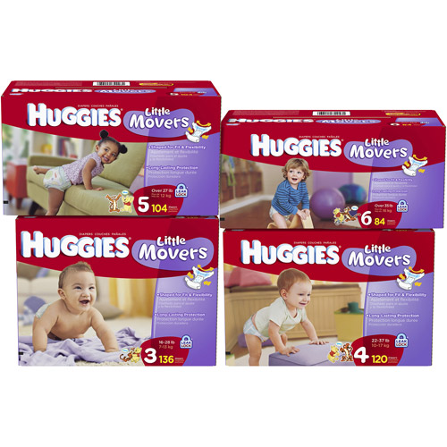 Huggies Little Movers Size 3, 136 ct