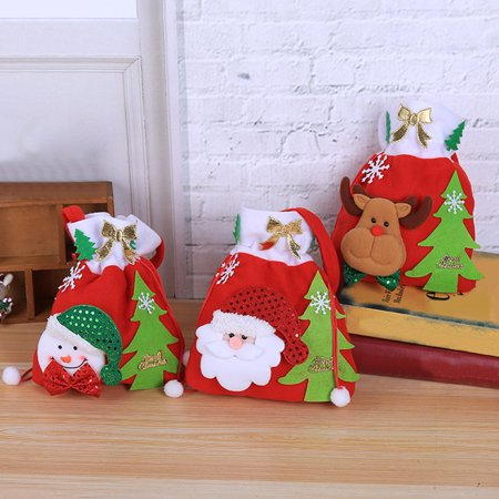 Heepo Lovely Snowman Deer Santa Claus Children Christmas Gift Candy Apple  Cloth Bag - Walmart.com 011757dcca004