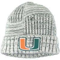 Miami Hurricanes New Era Women's Sideline Team Logo Cuffed Knit Hat - White - OSFA