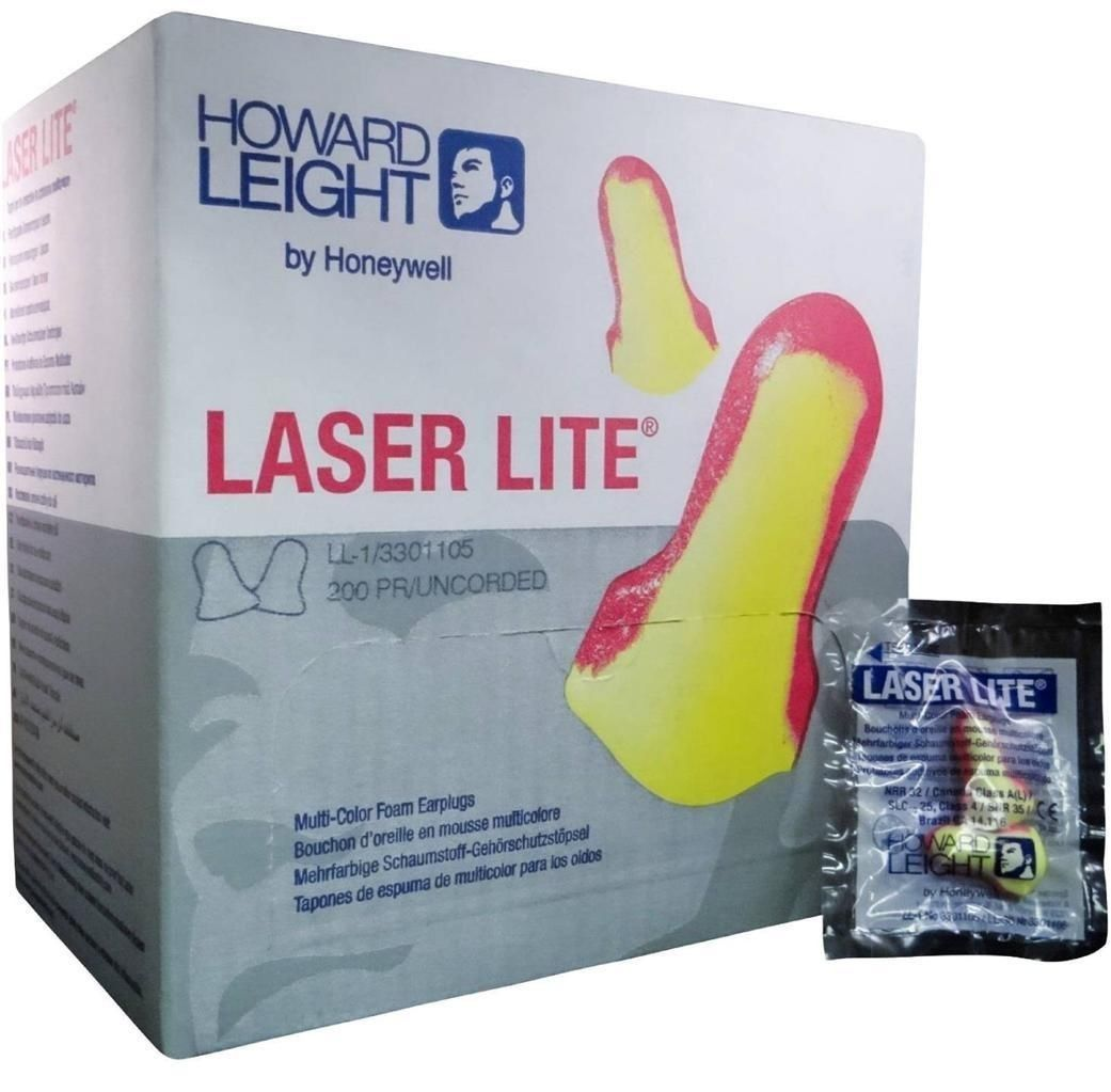 Howard Leight Laser Lite Disposable Ear Plug w/o Cord (NRR 32 dB) 200 Pairs MS-92260