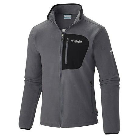 Columbia Men's Titan Pass 2.0 Fleece Jacket (Grey, Size XL)