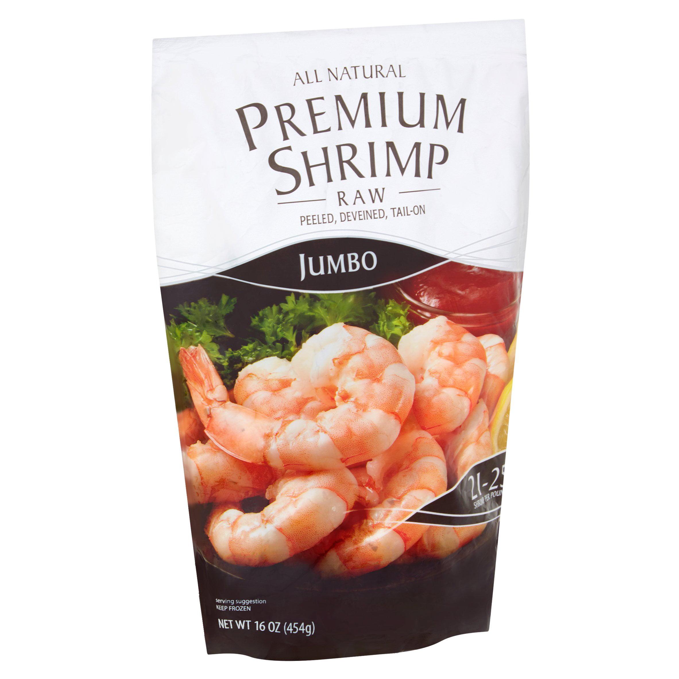 Jumbo Raw Premium Shrimp 16oz Walmart Com