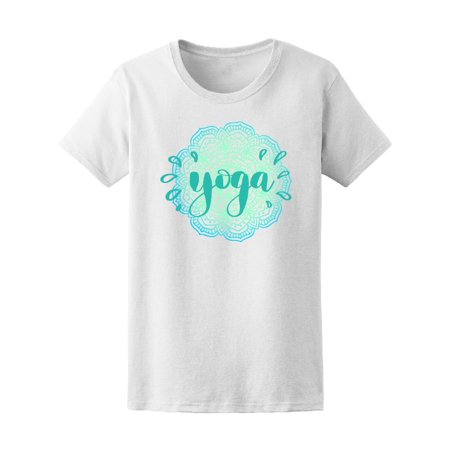 Yoga Cute Floral Ethnic Graphic Tee Women's -Image by -